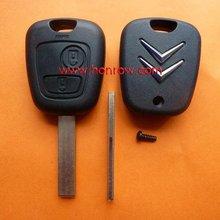 Citroen 2 button remote key blank with 407 key blade&key blanks wholesale&blank key