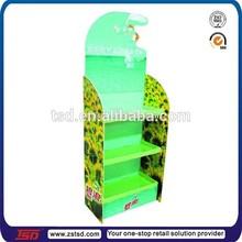 Tsd-c056 detergente de exposição de papelão ondulado / 3 camadas caixa prateleiras para o detergente / detergente papelão prateleiras