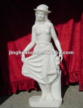 Dancing lady marble statue