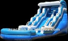 2015 Hot 18ft wet-dry inflatable wave slide