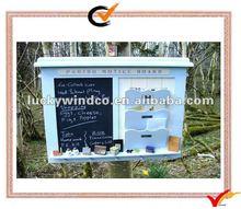 Wood wall organizer with chalkboard