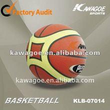 PU laminated basketball for training