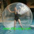 Inflable del agua caminando pelota, humano aqua bola zorbing.