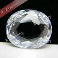 Oval clara dupla enfrenta/dupla mesas de corte cúbicos de zircônia gemas