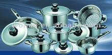 13 pcs bakelite handle stainless steel cookware set