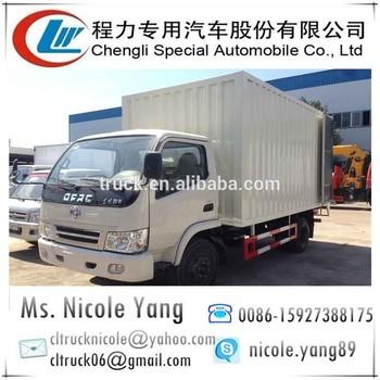 Dongfeng mini van truck, 4.5 ton mini van truck