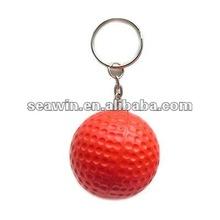 promotional PU kids stress toy golf ball key ring
