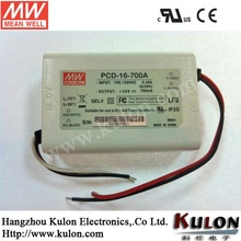 MEANWELL 1400mA 16W Constant Current AC Phase-cut Dimming LED Driver with PFC function FCC/CE Approvals