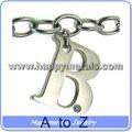 Toptan paslanmaz çelik harf kolye takılar( ch027- b)