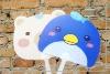 Animal !! Summer Cartoon shape Plastic Promotion Hand Fan