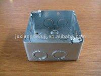 Square switch metal box,Electrical metal box,Junction box; Conduit box; Distribution box;