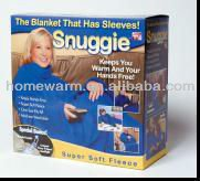 Comfortable Full Length Coverage With Sleeves And Deep Pockets TV Fleece Blanket