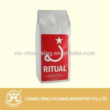 Aluminum foil side gusset coffee pouch