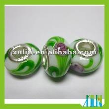 925 sterling single core european style lampwork bead in bulk