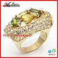 r3765 de la mujer de moda los anillos baratos oro y circón anillo de la promesa