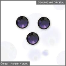 YHB MC Hot Fix Rhinestones hotfix stone Purple Velvet ss16 ss30