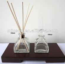 2012 Hot fragrância produto, 100 ml de luxo cana difusor para casa no padrão tampa de vidro