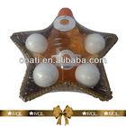 foot care set in star shape basket