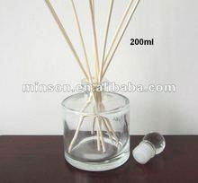 100 ml e 200 ml garrafa de vidro redonda ambientador Reed difusor