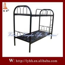 Two Person Model Black dormitory heavy duty metal kids bunk bed