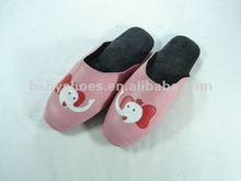 cute elephant sheepskin women indoor slippers