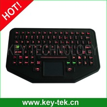 IP68 dynamic industrial silicone keyboard for panel mounting military computer