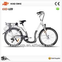 EN15194 City Electric Bike With Shimano Derailleur External 7 Speed