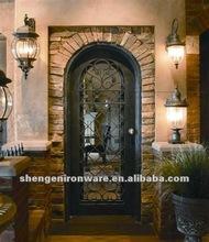 custom antique round top wrought iron doors