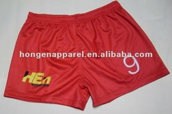 sublimation rugby shorts