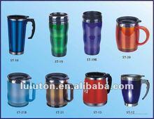 2015 stainless steel coffee mug, translucent colored travel mug