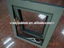 wooden color aluminium tilt out window