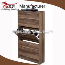 LB-DD5001 Melamine Board Three Layer Solid Wooden Shoe Cabinet Design