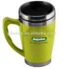 stainless steel &plastic beer mug