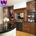 venta caliente negro granito prefab isla de la cocina