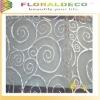 White Swirl Print Organza Table Cloth Fabric
