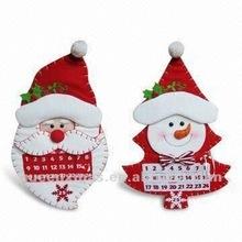 Santa Snowman Design Fabric Christmas Calendar