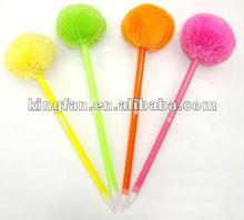 hair bulb ball pen