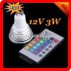LED bulb 2 years warranty DC 12V 3W MR16 16 Colors RGB LED Light Bulb