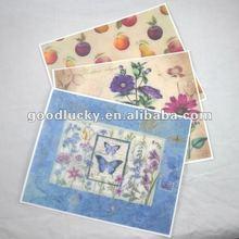 2012 Prevent fingerprint PP table mat design with fruit