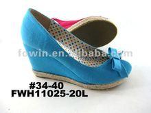 2012 Fashion blue women wedges shoes