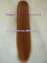 claw-grip pony tail/human hair ponytail