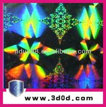 3D laser hologram label sticker/hologram packing picture