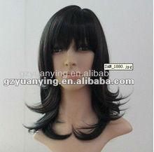 Best selling long black hair wig for men