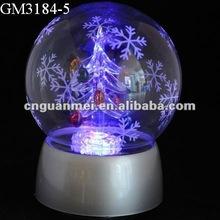 Christmas ball decoration with LED light and music box