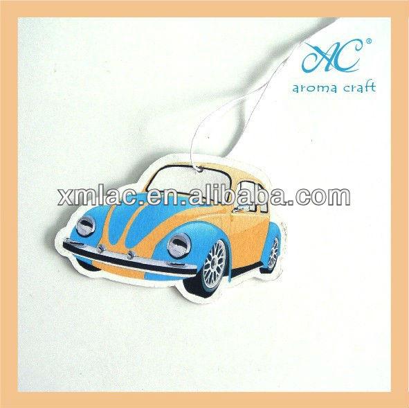 custom shape hanging paper car freshener