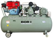 diesel and electric motor air compressor 500 liter