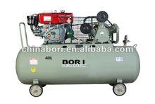 32CFM 10HP diesel belt drive air compressor 400L