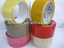 yellowish,brown,tan,red,clear,logo printed bopp film adhesive packing tape