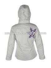 New arrival,women's fashion ski jacket,100% polyester fabric,100g padding