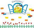 ventanas de amor oso de flores de primavera de dibujos animados de colores extraíbles de la pared pegatinas